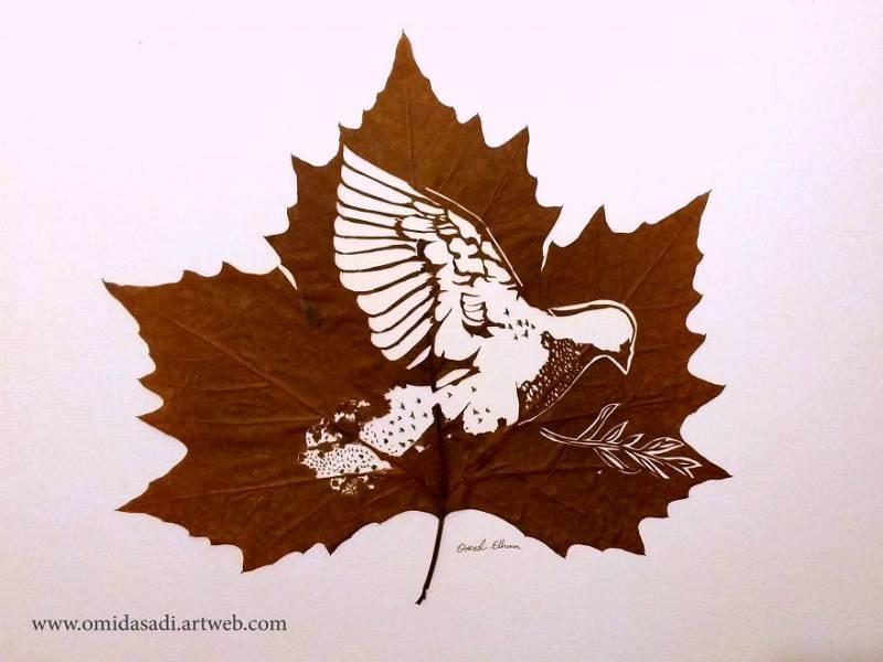 Perierga.gr - Φύλλα μεταμορφώνονται σε μικρά έργα τέχνης