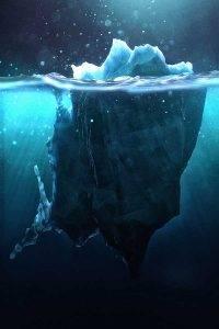 perierga.gr - Πώς είναι τα παγόβουνα κάτω από το νερό!
